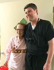 Dr. Lively and senior resident smiling together